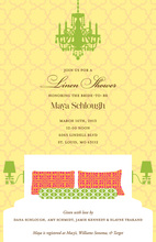 Yellow Linens Bridal Chandelier Invitations