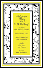 Modern Fabulous Yellow Floral Party Invitations