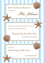 Inspired Decorated Shell Trio Beach Invitations