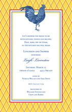 Rooster Kitchen Invitations