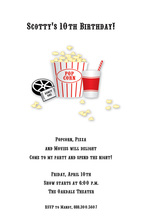 Movie Kids Birthday Invitations