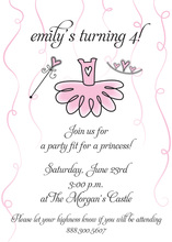 Ballerina Dress Princess Girl Invitations