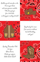 Wild Wild West Cowboy Bandana Invitations