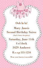 Kids Dress Up Invitations