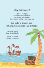 Treasure Hunt Pirate Invitation