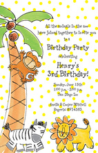 Kids Zoo Animals Invitation