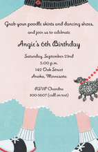 1950 Favorite Poodle Skirt Invitations