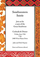 Beautiful Southwestern Paisley Trim Invitation