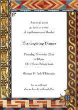 Festive American Indian Border Invitation