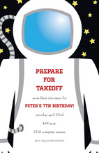 Little Astronaut Suit Invitations
