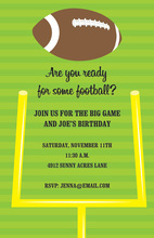 Football Field Goal Invitations