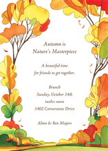 Vibrant Autumn Colors Invitation