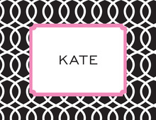 Trellis Pink Black Thank You Cards