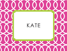 Trellis Pink Green Thank You Cards