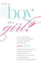 Boy Or Girl Gender Neutral Baby Shower Invites
