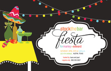 Midnight Backdrop Outdoor Fiesta Invitations