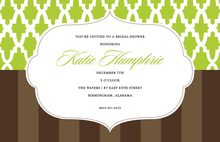 Wallpaper Lime Brown Invitations