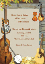 Music Instruments Party Invitations