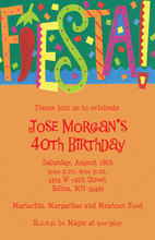 FIESTA! Word Invitations