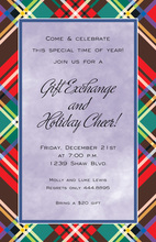 Lavender Holiday Plaid Invitations