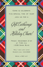 Sage Holiday Plaid Invitations
