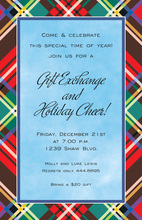 Playful Plaid Glitz Party Invitations