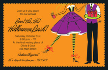 Halloween Couple Welcome Invitations