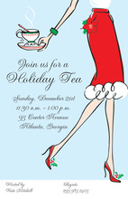Tea Glee Holiday Cheer Invitations