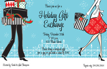Merry Shopping Christmas Party Invitations