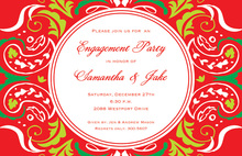 Ornate Red Accents Invitation