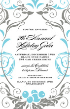 Frosty Foliage Charm Invitation