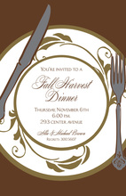 Harvest Plate Invitations