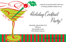 Festive Martini Glee Holiday Invitations