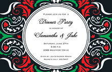 Stylish Black Funky Invitation