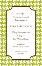 Houndstooth Lime Invitation