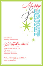 Text Merry Bright Special Invitations