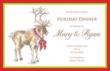 Charming Whimsical Reindeer Invitation