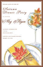 Cheerful Leaves Placesetting Invitations