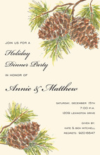 Sweet Woodland Pines Invitation