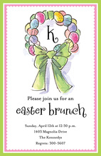 Easter Wreath Invitations