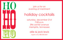 Trio Ho Ho Ho Invitations