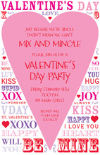 Pink Valentine Heart Mix Speak Invitation