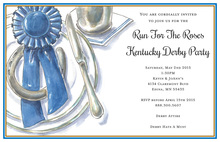 Lucky Horse Shoe Race Placesetting Invitations