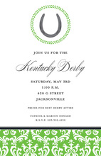 Kentucky Derby Luck Horse Shoe Invitations
