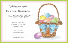 Colorful Spring Egg Basket Invitations
