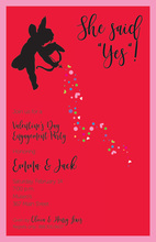 Aiming Little Cupid In Red Invitation