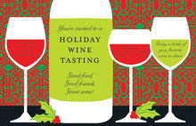 Classy Wine Cocktails Holiday Cheers Invite