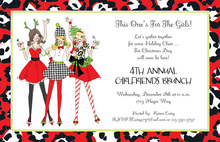 Cheer Holiday Ladies Invitation