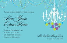 Decorated Formal Chandelier Invitation