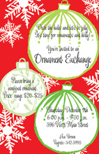 Large Retro Ornaments Invitation